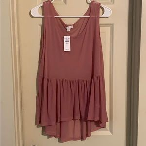 NWT Don't Ask Why Flowy Peplum Top